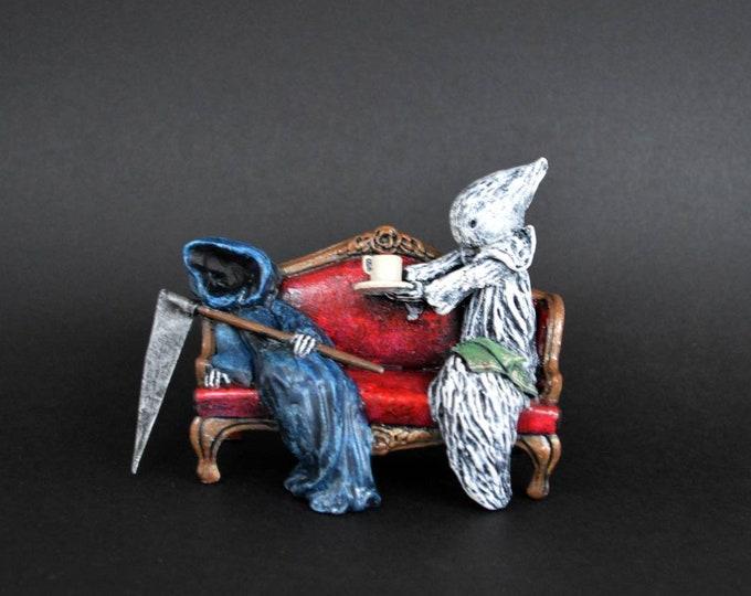 Sympathy Tea - Hand Sculpted figure by Lisa Snellings