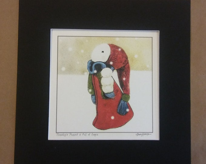 Tuesday's Child in Winter - Matted Print, signed
