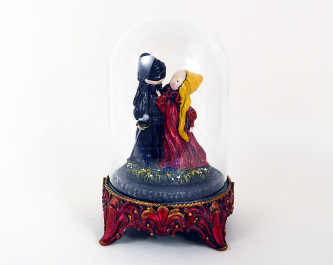 """The Princess Bride - """"As You Wish"""" Limited Edition Poppet sculpture in a unique glass dome - Ships immediately"""