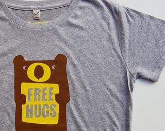 free bear hugs adult t-shirt