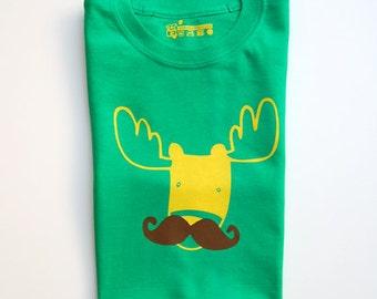 Moosetache Adult T-shirt