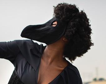 Black Cotton Plague Doctor Face Mask