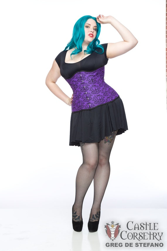 Batty Damask Long Line Corset