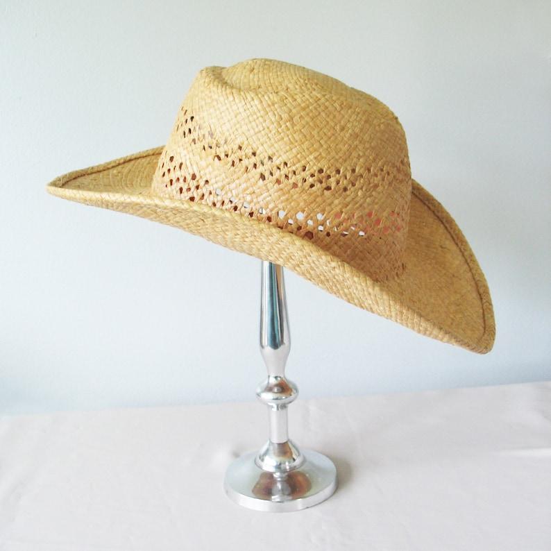 e53339414576bc Western Cowboy Straw Hat Sun Hat Shady Brady Vintage 1960s | Etsy