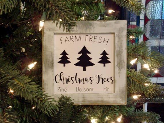 Fresh Christmas Trees.Mini Sign Farm Fresh Christmas Trees Wall Or Shelf Farmhouse Decor Print