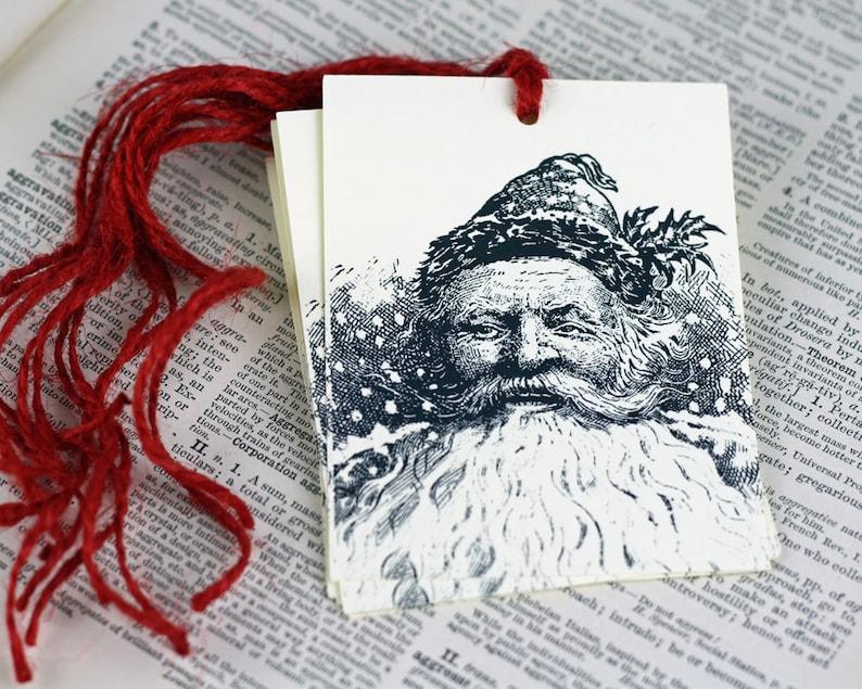 Thomas Nast Santa Christmas Gift Tag Set of 6 Victorian Saint image 0