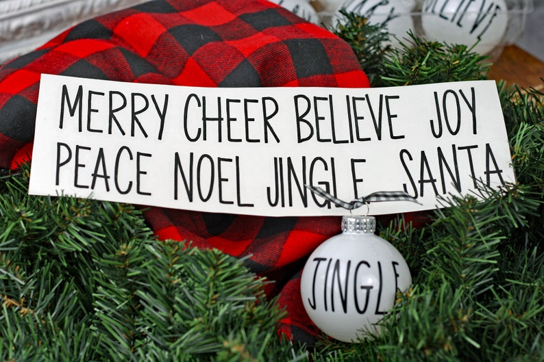 Skinny Font Decals Rae Dunn Inspired   set of 8 Christmas image 0