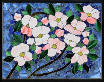 Blooms - Stained Glass Mosaic