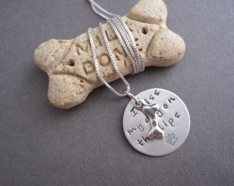 I Kiss My Dog Charm Necklace - I Kiss My Dog On The Lips - Dog Lover Jewelry - Must Love Dogs - Rescue