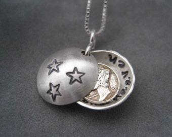 Dime From Heaven Necklace - Miniature Dime -Personalized Locket - Locket- Pendant - Memorial Locket - Dime Necklace - Angel Sent From Heaven