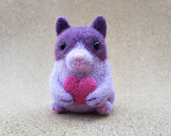 Blueberry the Cat POCKET HUG -- wool comfort toy -- emotional support kitty