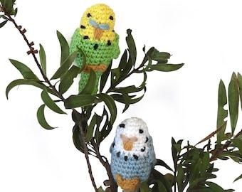 Budgerigar crochet pattern, Amigurumi Pattern, Australian Bird pattern, Budgie pattern PDF