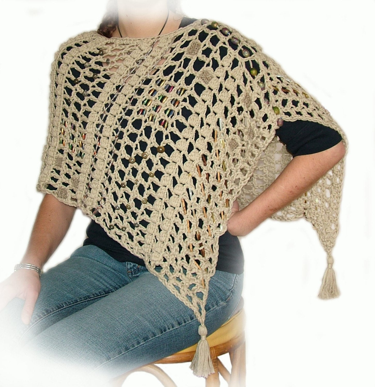 crochet poncho pattern, Easy Crochet Poncho Pattern, beginners ...