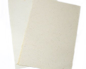 10 White Homemade paper sheets, Large A3 Homemade Recycled Paper Sheets, Mixed Media Paper, Collage paper, Scrapbooking, Textured paper,