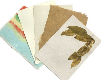 20 A4 Sheets HomemadePlant Fibre/Recycled Paper, A4 Paper, Recycled Handmade Paper, Gift Paper, Collage paper, Scrapbooking