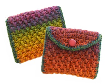 5 Crochet Purse Patterns, Small Bag Crochet Patterns, Digital PDF download