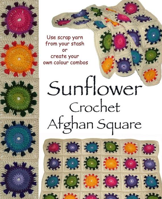 Crochet Pattern Afghan Blanket Throw Rug Baby Blanket