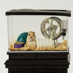 Dollhouse Miniature Flocked Realistic Hamster Rodent Cage and Accessories Hand Made OOAK