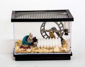 Mice Rodent Dormouse Pet Charm Pendant Goft Box 3D Realistic Mouse Necklace