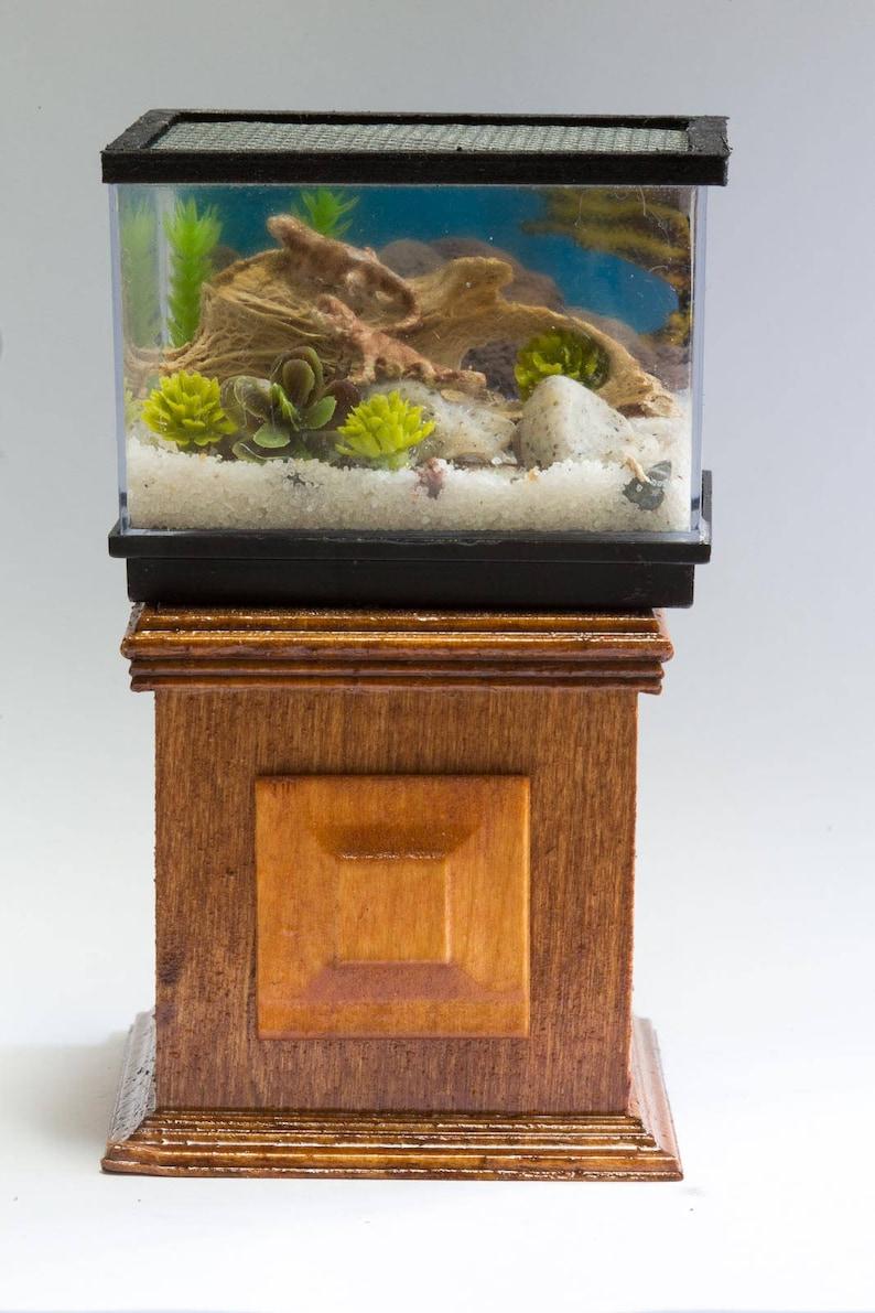 Dollhouse Miniature Large Lizard Reptile Bearded Dragon Tank Etsy