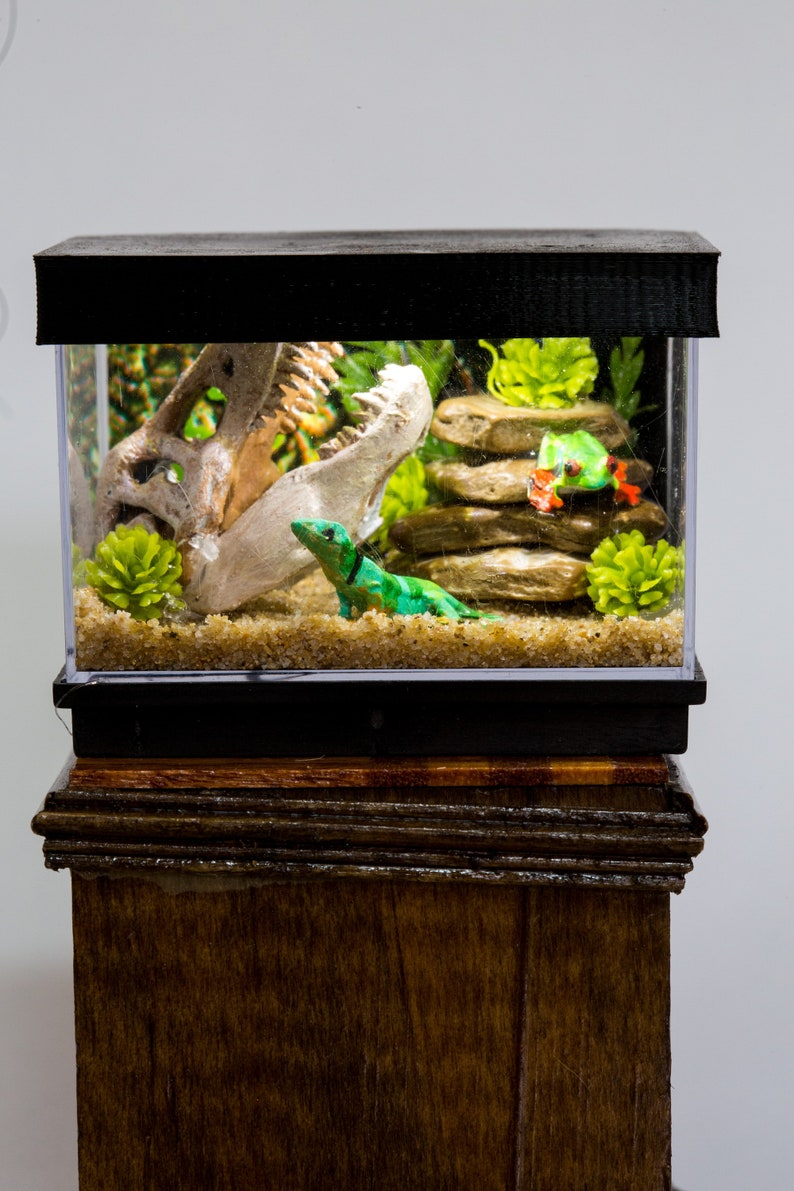 Dollhouse Miniature Reptile Terrarium Lizard Tank Aquarium image 0