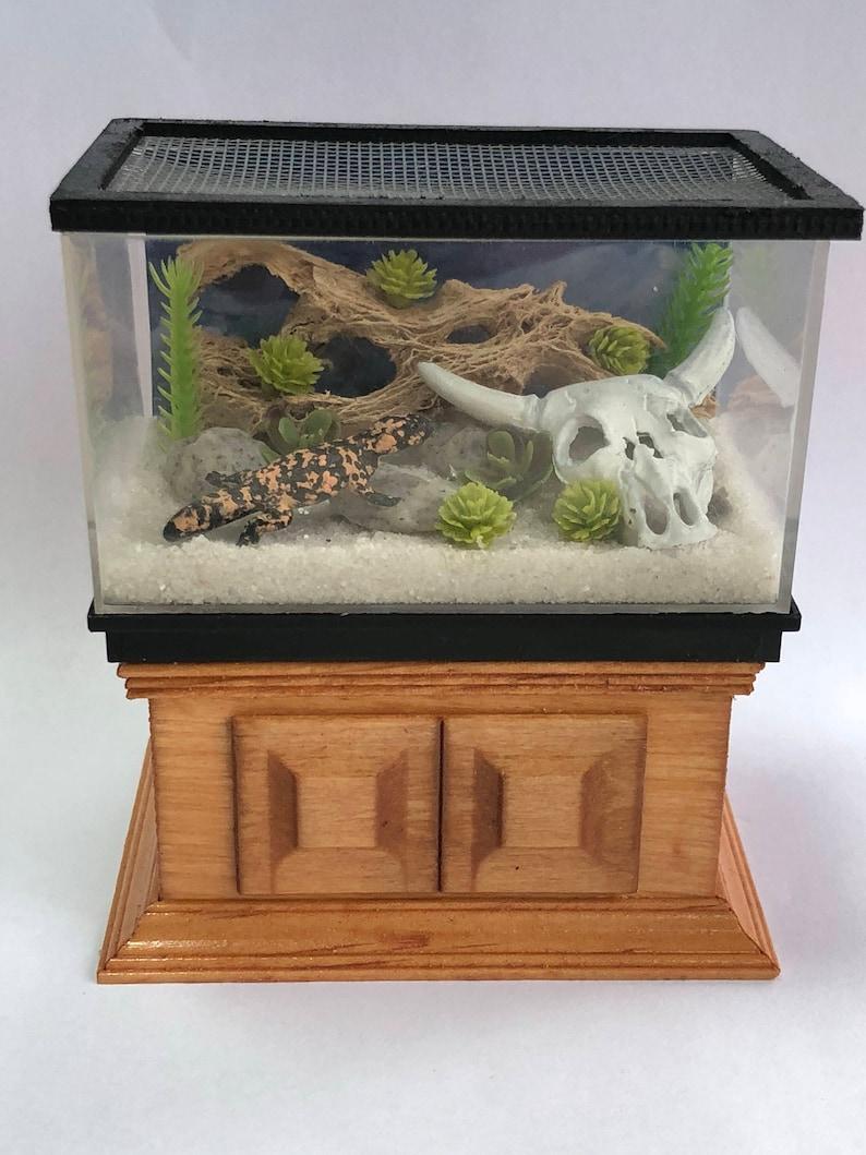 Dollhouse Miniature Large Lizard Reptile Gila Monster Tank Etsy