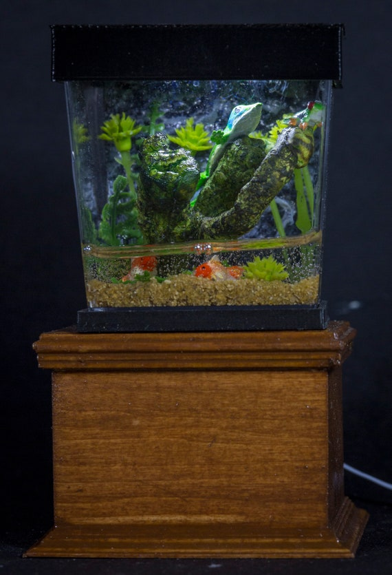 Dollhouse Miniature Reptile Terrarium Frogs Lizard Fish Tank Etsy