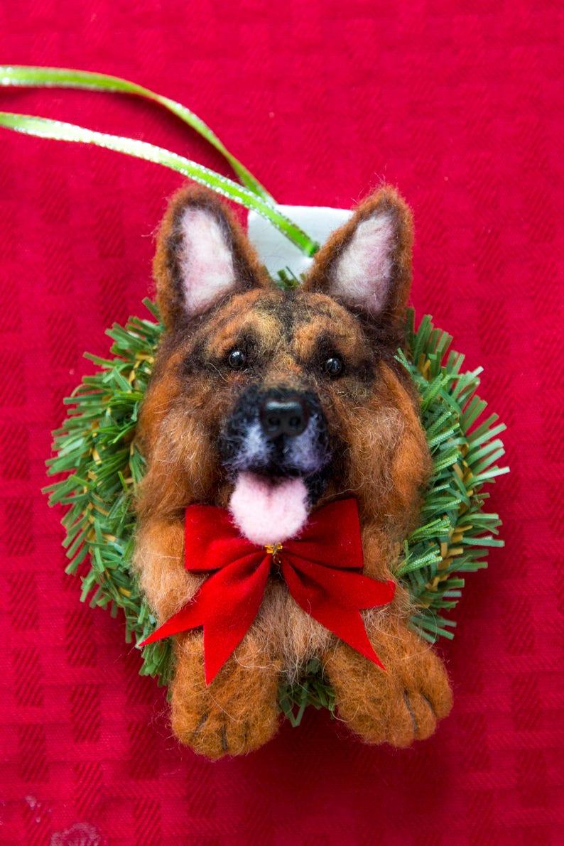 Custom Handmade German Shepherd OOAK Holiday Christmas Tree image 0