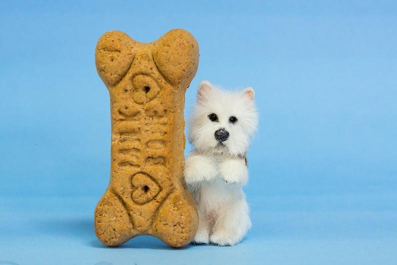 Dollhouse Miniature Begging West Highland White Terrier Westie image 0