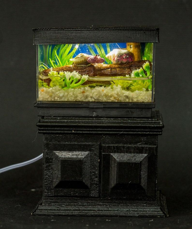 Dollhouse Miniature Reptile Terrarium Hermit Crab Tank image 0