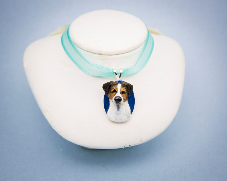 Handmade Jack Russell Terrier Dog Pendant Necklace Charm image 0