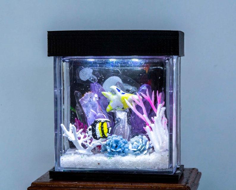 Dollhouse Miniature Salt Water Tropical Fish Tank Aquarium image 0