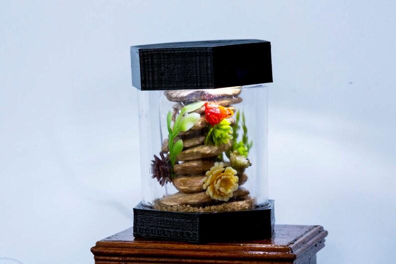 Dollhouse Miniature Reptile Terrarium Frog Leopard Gecko Tank image 0