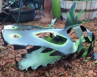 Stella the Welded Dragon Baby: Metal Garden Art