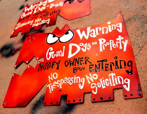 Guard Dog Signs: Metal Warning Signs, No Trespassing Sign - Medium