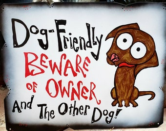 Custom Dog Sign, Hand-Painted Pet Sign, Your Dog on a Sign: Metal Yard Art