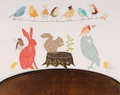 Retro Forest Critters - Reusable Fabric Wall Decals