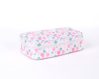 Cooler Bag with Ice Brick (Floral)