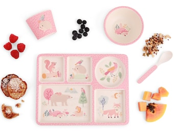 NEW Divided Plate Set - Woodland Friends