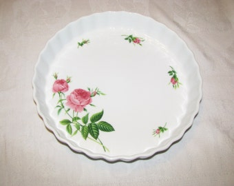 Christineholm Pink Roses Quiche,Pie,Tart  Pan Dish