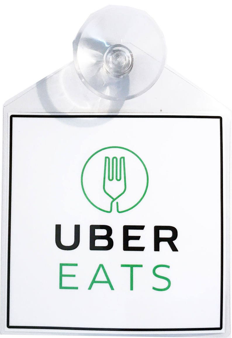 Uber eats rideshare display decal placard emblem with suction etsy