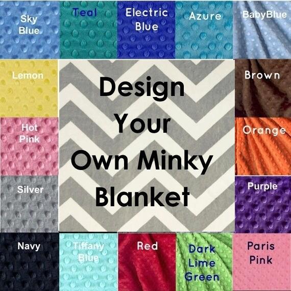 Minky Adult Blanket, Personalized Blanket Silver Gray Chevron Blanket, Custom Blanket, Twin Blanket, Minky Throw Blanket, Gift Idea