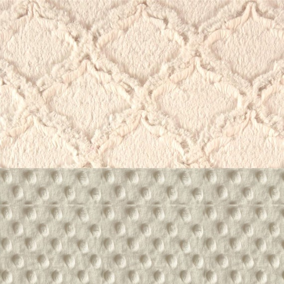 Minky Adult Blanket Personalized Blanket - White Ivory Throw, Twin Size / Lattice Blanket / Soft Blanket / Geometric Blanket / Minky Blanket