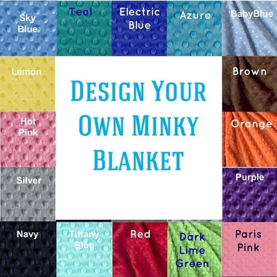Toddler Blanket 48 x 60, Minky Blanket Boy Girl, Personalized Blanket, Kids Minky Blanket Toddler Bedding, Custom Blanket, Personalized Gift
