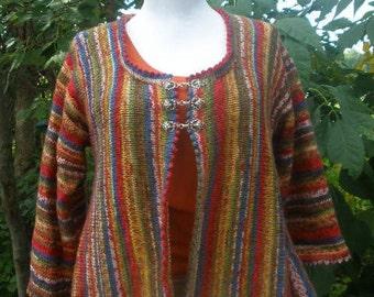 75dbf747c408df Sock Yarn Sideways Swing Cardigan Knitting Pattern