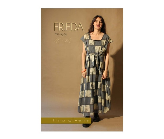 Meri Dress Sewing Pattern  TG-A7086 by Tina Givens Lagenlook Style 2X XS