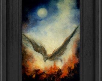 Giclee Print,Phoenix Rising, Phoenix On Fire Alcohol Ink Print Phoenix Painting Fine Art Print Phoenix Art Alcohol Ink Art