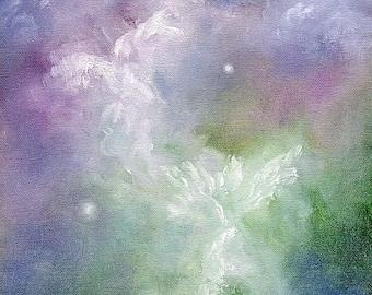 Angel Art Print, Angel Art,  Angel Picture, Angel Wings Decor, Spiritual Art, Guardian Angel, Home Decor