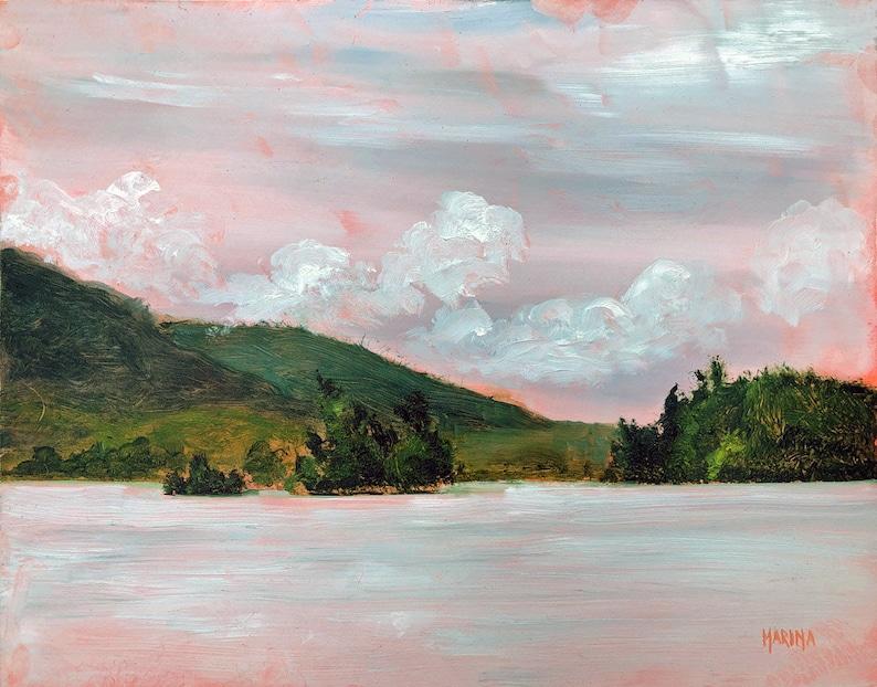 Lake George Painting Original Plein Air Painting Lake George image 0