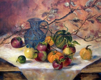 Still Life, Kitchen Decor, Food Art, Still Life painting, wall art, Home Decor